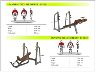 Olympic Decline Bench and Olympic Incline Bench