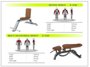 Seated Bench And Multiadjustable Bench